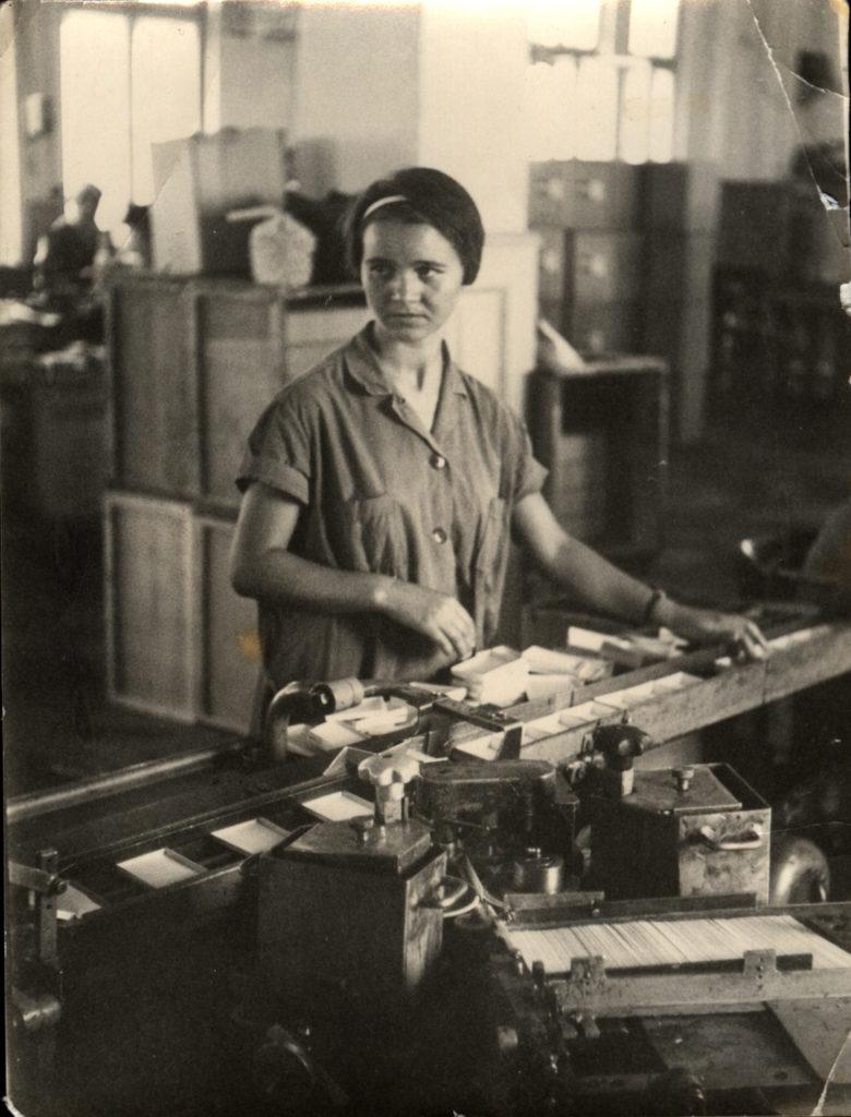 Картонажен цех, Ема Митева, 1970 г.